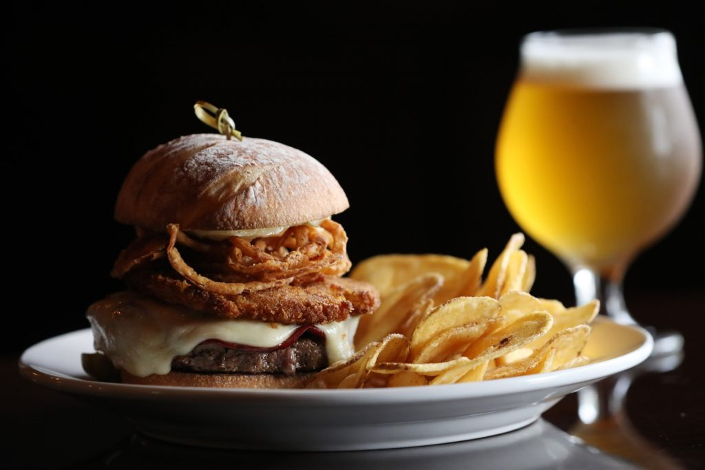 Cask + Cow Maverick Burger